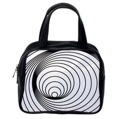 Spiral Eddy Route Symbol Bent Classic Handbags (one Side)