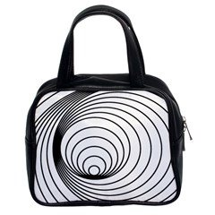 Spiral Eddy Route Symbol Bent Classic Handbags (2 Sides)