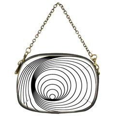 Spiral Eddy Route Symbol Bent Chain Purses (two Sides)