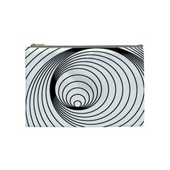 Spiral Eddy Route Symbol Bent Cosmetic Bag (medium)