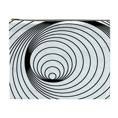 Spiral Eddy Route Symbol Bent Cosmetic Bag (xl)