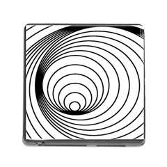 Spiral Eddy Route Symbol Bent Memory Card Reader (square)