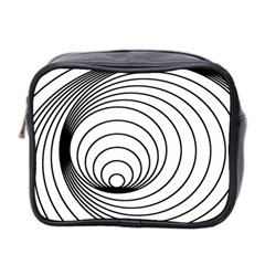 Spiral Eddy Route Symbol Bent Mini Toiletries Bag 2 Side