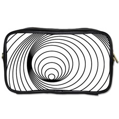 Spiral Eddy Route Symbol Bent Toiletries Bags