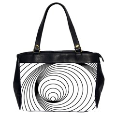 Spiral Eddy Route Symbol Bent Office Handbags (2 Sides)
