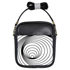 Spiral Eddy Route Symbol Bent Girls Sling Bags