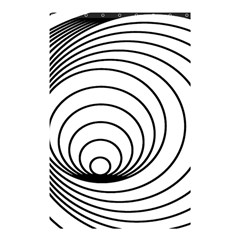 Spiral Eddy Route Symbol Bent Shower Curtain 48  X 72  (small)