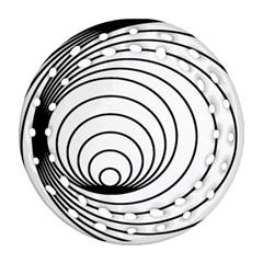 Spiral Eddy Route Symbol Bent Ornament (round Filigree)