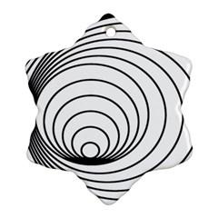 Spiral Eddy Route Symbol Bent Ornament (snowflake)