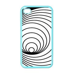 Spiral Eddy Route Symbol Bent Apple Iphone 4 Case (color)