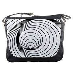 Spiral Eddy Route Symbol Bent Messenger Bags