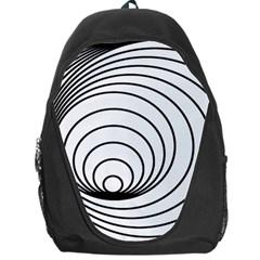 Spiral Eddy Route Symbol Bent Backpack Bag