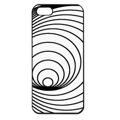 Spiral Eddy Route Symbol Bent Apple Iphone 5 Seamless Case (black)