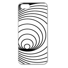 Spiral Eddy Route Symbol Bent Apple Seamless Iphone 5 Case (clear)