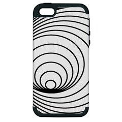 Spiral Eddy Route Symbol Bent Apple Iphone 5 Hardshell Case (pc+silicone)