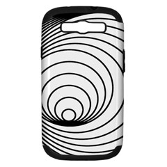 Spiral Eddy Route Symbol Bent Samsung Galaxy S Iii Hardshell Case (pc+silicone)