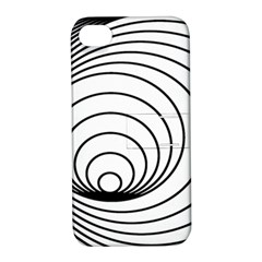 Spiral Eddy Route Symbol Bent Apple Iphone 4/4s Hardshell Case With Stand