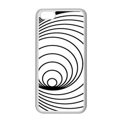 Spiral Eddy Route Symbol Bent Apple iPhone 5C Seamless Case (White)