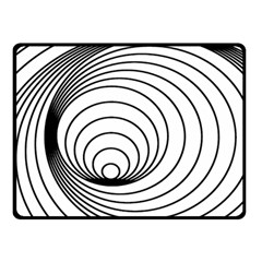 Spiral Eddy Route Symbol Bent Double Sided Fleece Blanket (small)