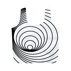 Spiral Eddy Route Symbol Bent Full Print Recycle Bags (m)
