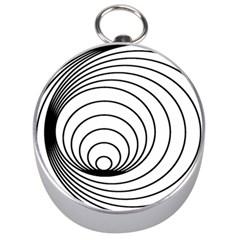 Spiral Eddy Route Symbol Bent Silver Compasses