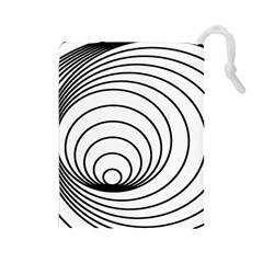 Spiral Eddy Route Symbol Bent Drawstring Pouches (large)