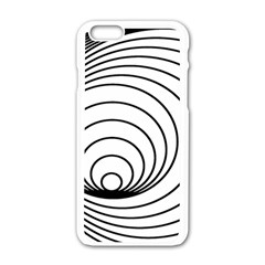 Spiral Eddy Route Symbol Bent Apple Iphone 6/6s White Enamel Case