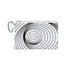 Spiral Eddy Route Symbol Bent Canvas Cosmetic Bag (s)