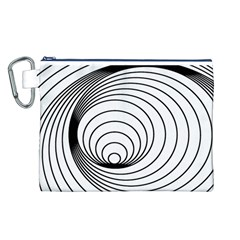 Spiral Eddy Route Symbol Bent Canvas Cosmetic Bag (l)