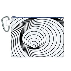 Spiral Eddy Route Symbol Bent Canvas Cosmetic Bag (xl)