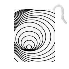 Spiral Eddy Route Symbol Bent Drawstring Pouches (extra Large)