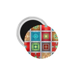 Tiles Pattern Background Colorful 1.75  Magnets