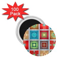 Tiles Pattern Background Colorful 1 75  Magnets (100 Pack)