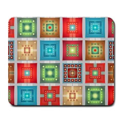 Tiles Pattern Background Colorful Large Mousepads