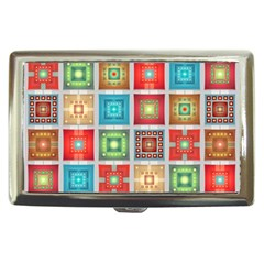 Tiles Pattern Background Colorful Cigarette Money Cases