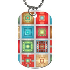 Tiles Pattern Background Colorful Dog Tag (two Sides)
