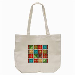 Tiles Pattern Background Colorful Tote Bag (cream)