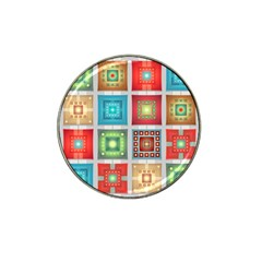 Tiles Pattern Background Colorful Hat Clip Ball Marker (4 pack)