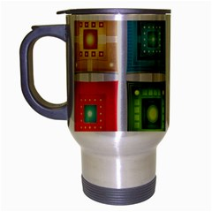 Tiles Pattern Background Colorful Travel Mug (silver Gray)