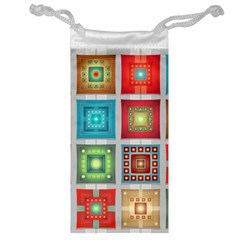 Tiles Pattern Background Colorful Jewelry Bag