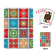 Tiles Pattern Background Colorful Playing Card