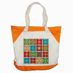 Tiles Pattern Background Colorful Accent Tote Bag