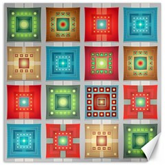 Tiles Pattern Background Colorful Canvas 12  X 12