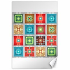Tiles Pattern Background Colorful Canvas 20  X 30