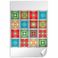 Tiles Pattern Background Colorful Canvas 24  X 36