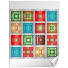 Tiles Pattern Background Colorful Canvas 36  X 48