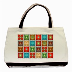 Tiles Pattern Background Colorful Basic Tote Bag (Two Sides)