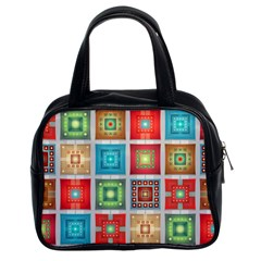 Tiles Pattern Background Colorful Classic Handbags (2 Sides)