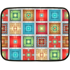 Tiles Pattern Background Colorful Double Sided Fleece Blanket (mini)