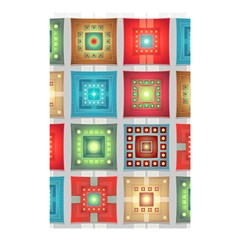 Tiles Pattern Background Colorful Shower Curtain 48  X 72  (small)